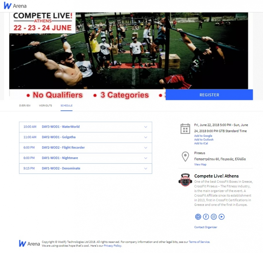 WOD Placing, Heat Schedule & Competition Times are Now Available!
